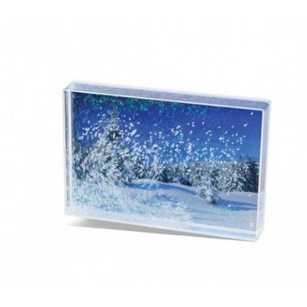 Adventa Acrylic Snow Blox Photo Frame - 6x4""